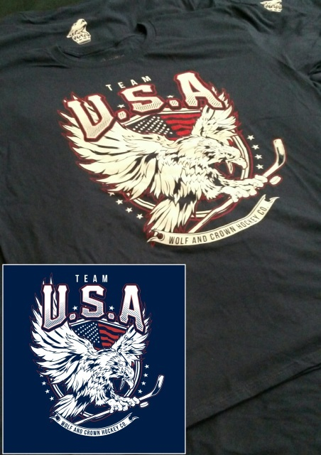 Wolf and Crown Team U.S.A. T-Shirt for the 2016 World Cup